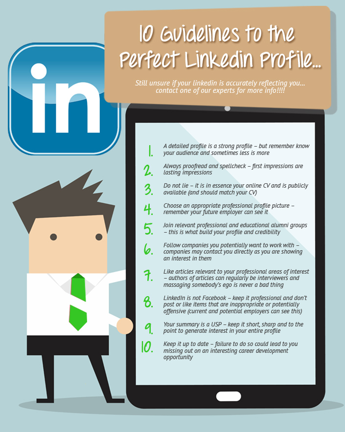 Linkedin Advice inforgraphic